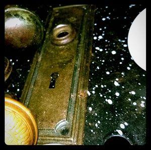 Antique lock plate